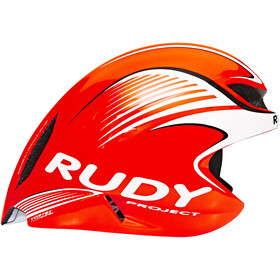 Rudy Project Wing57 Fietshelm, red fluo / white (shiny)